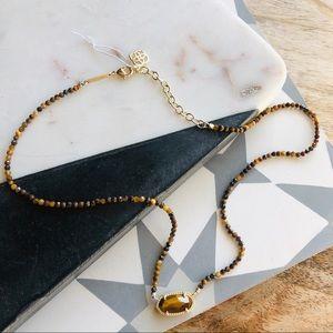 Kendra Scott // Elisa Tiger Eye Beaded Necklace